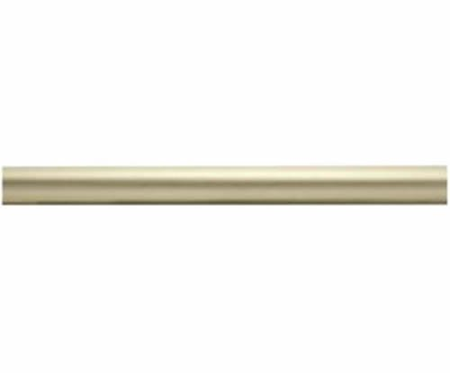 "Kirsch Wood Trends Classics Smooth 2""  Drapery Pole, Satin Gold 6 FT  (MPN# 5501"