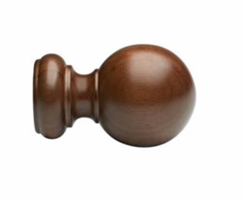 "Kirsch Wood Trends Classics Ball Finial, for 3"" pole, Walnut (MPN# 59083085)"