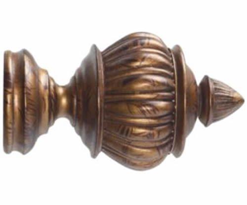 "Kirsch Wood Trends Renaissance  Armada for 2"" pole, in Tortoise(MPN#  21042119)"