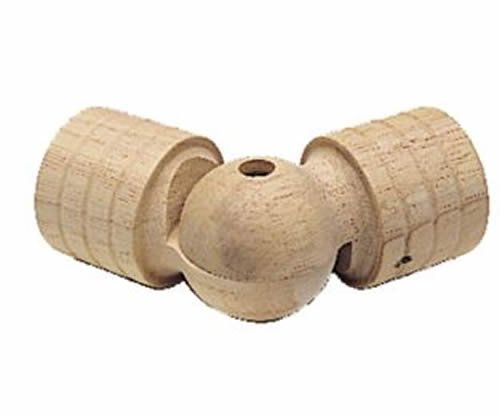 """Kirsch Wood Trends Classics  Swivel Socket  for 1 3/8"""" pole, Unfinished (MPN#  5"""