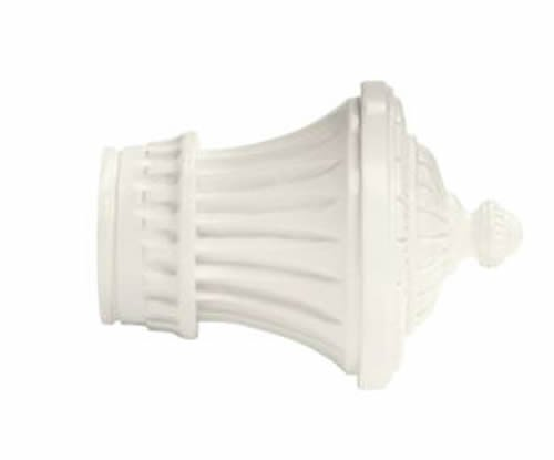 """Kirsch Wood Trends Classics Charleston Finial, for 2"""" pole, White (MPN# 46802025"""