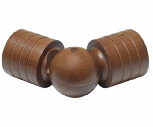 """Kirsch Wood Trends Classics  Swivel Socket  for 3"""" pole, Walnut (MPN#  59063085)"""