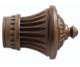 "Kirsch Wood Trends Classics Charleston Finial, for 2"" pole, Hazelnut (MPN# 46802"