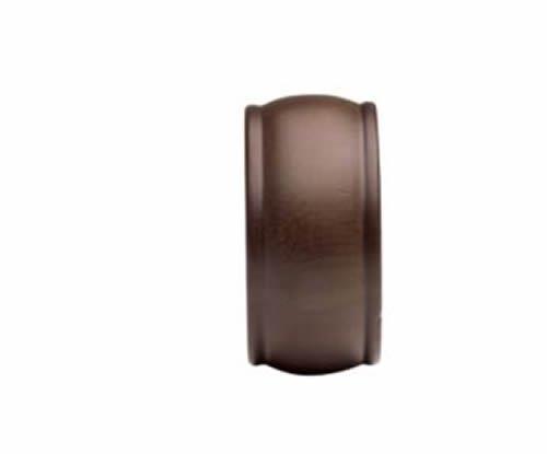 """Kirsch Wood Trends Classics End Cap Finial, for 1 3/8"""" pole, Mahogany (MPN# 3680"""
