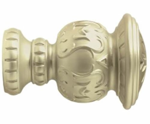 "Kirsch Wood Trends Classics Reign Finial, for 2"" pole, Satin Gold (MPN# 46805894"