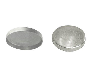 "50 QTY: C.S.Osborne Aluminum Button Shells , Size 30- 3/4"" diam. ( MPN # 77300)"