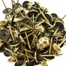 C.S. Osborne No. 680-5/8 Oxford Hammered Nail Tacks Antique Brass 100pk (14444)