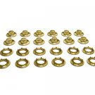 "Grommets, #3 Brass, Heavy Duty Rolled Rim Spur, 15/32"" Inch Hole"