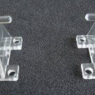 Hold Down Plastic Bracket For 2 1/2 inch Horizontal Blind- Pack of 10 - Clear by
