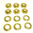"Grommets, #6 Brass, Heavy Duty Rolled Rim Spur, 3/4"" Inch Hole, 6 Pc. Set"