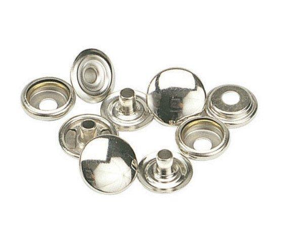 100: OSBORNE K2708-11-C  SNAPS  - 1/2 Brass, Nickel Plated Complete Snaps(01646)