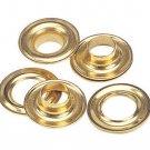 50 QTY-C.S. Osborne - No. G1-00 BRASS Grommets & Plain Washers,size 00. (13012)