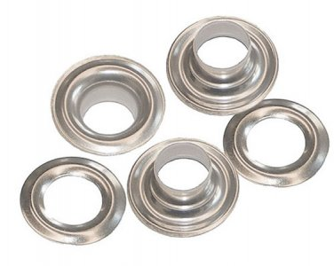50 QTY-Osborne-No. SS-2-STAINLESS STEEL Plain Grommets,size 2. (72886)