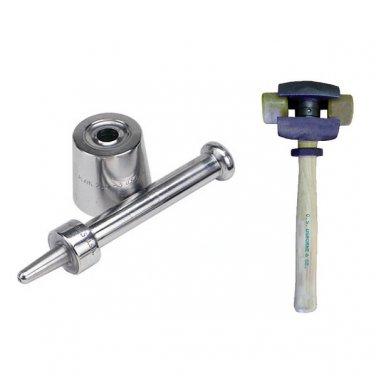 Osborne Plain Grommet Setter-Size 5 (No. 217-5) & Split Head Hammer(No.395-1R)