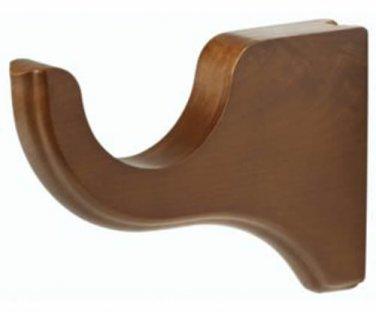 "Kirsch Wood Trends Classics 3 1/2"" Return Bracket for 2"" pole, Walnut(5503EG085)"