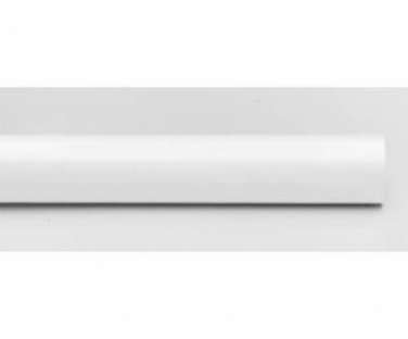 """Kirsch Wood Trends Classics Smooth 1 3/8""""  Drapery Pole, White 6 FT (#56016G025)"""