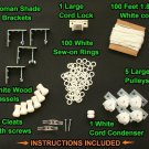 All-in-One LARGE ROMAN SHADE HARDWARE KIT, in White