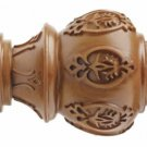 "Kirsch Wood Trends Classics Lacey Finial, for 3"" pole, Estate Oak (# 56804820)"