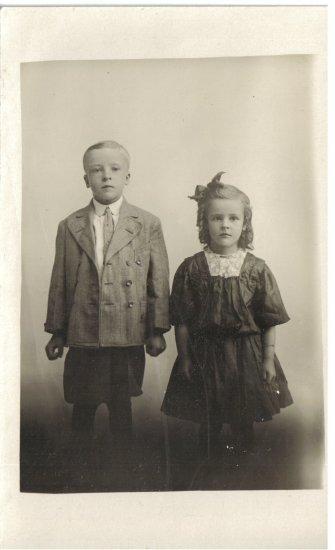Vintage Children Postcard Photograh