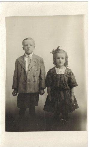 Vintage Children Postcard Photograh