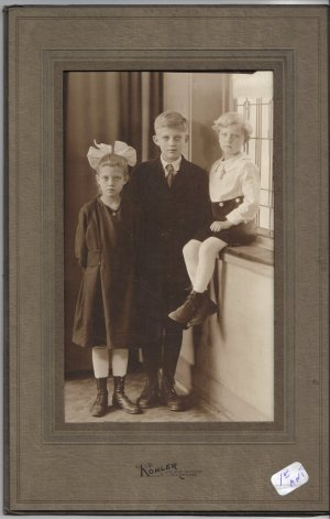Vintage Children Photograph in Vintage Folder