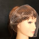 Birdcage veil with 2 side mini combs.Blusher veil,Bridal Hair accessory