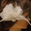 Birdcage/Blusher Veil with hair Fascinator (2 Items) Hair Accessory,wedding veil