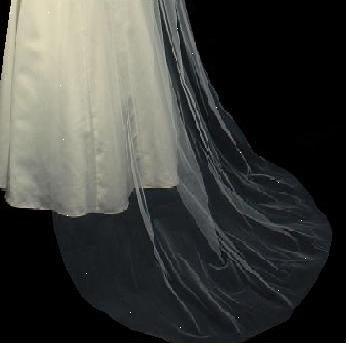 2T BRIDAL VEILS, WEDDING VEILS ,Chapel length  Cut edge veil