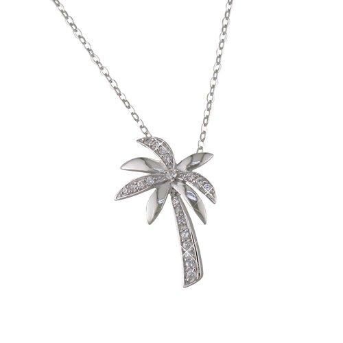 Palm Tree Cubic Zirconia Necklace