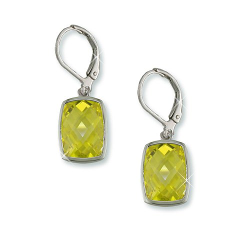 Canary Yellow Cubic Zirconia Earrings