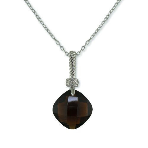 Coffee Brown & Clear Cubic Zirconia Necklace