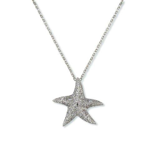 Star Fish Cubic Zirconia Necklace