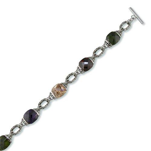Garnet Antique Cubic Zirconia Bracelet