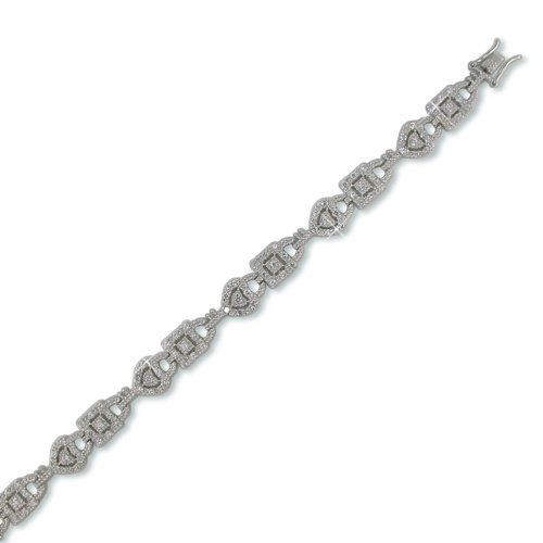 Lock and Key Cubic Zirconia Bracelet
