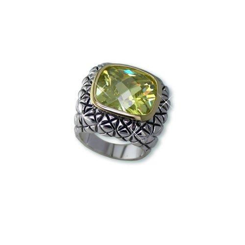 Peridot Cubic Zirconia Ring