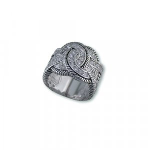 Intertwined Circles Cubic Zirconia Ring (R6291)