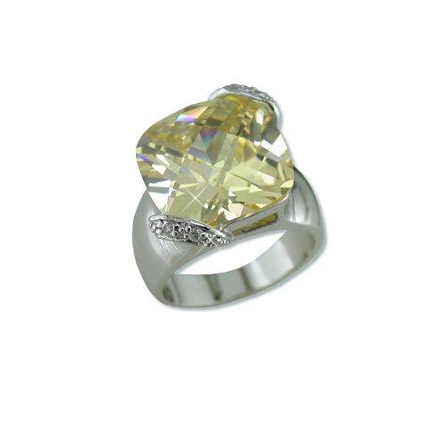 Light Yellow Cubic Zirconia Ring (R6219LY)