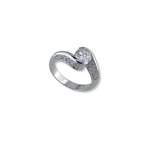 Hugged Cubic Zirconia Ring (R5747)