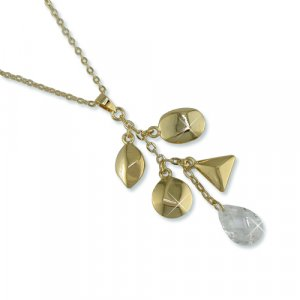 Charmed Cubic Zirconia Gold Necklace (N6288G)