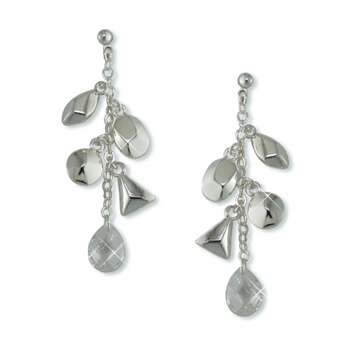 Charmed Cubic Zirconia Rhodium Earrings