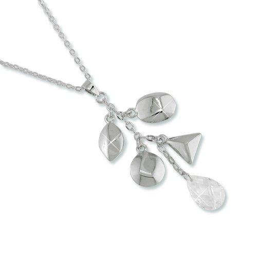 Charmed Cubic Zirconia Rhodium Necklace
