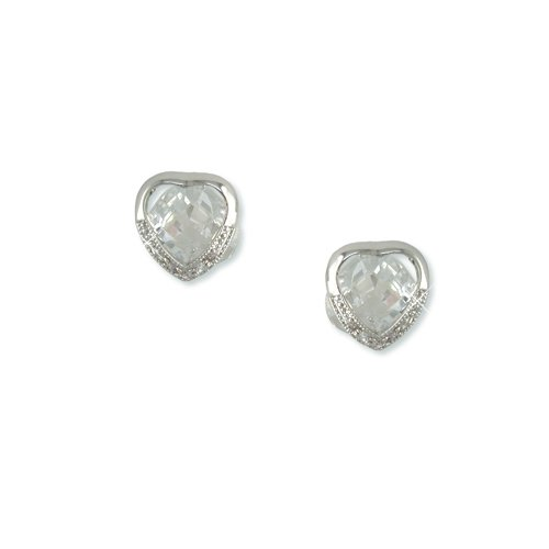 Heart-shaped Cubic Zirconia Earrings (EP5753)