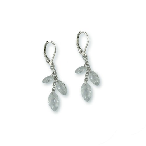 Marquise Cubic Zirconia Rhodium Earrings