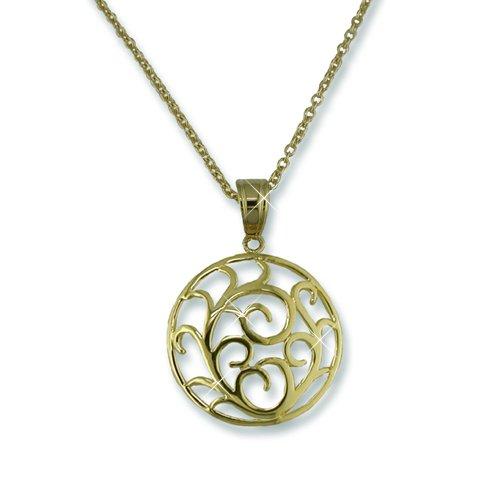 Gold Medallion Necklace (N5450G)