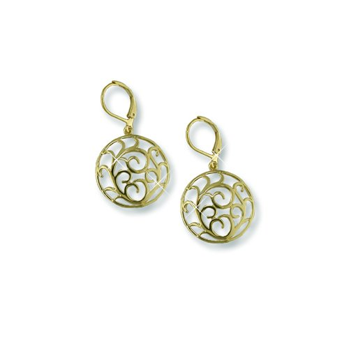 Gold Medallion Earrings (EE5450G)