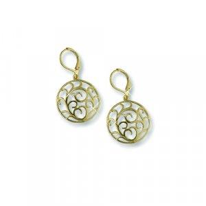 Gold Medallion Earrings (EE5450G)
