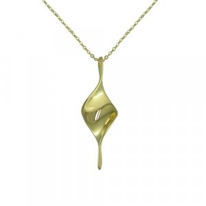 Twisted Gold Bar Necklace (N5629G-1)