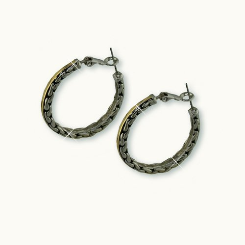 "Antique ""Chains"" Hoop Earrings"