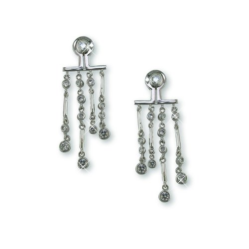 """Dangle from the Bar"" Cubic Zirconia Earrings"