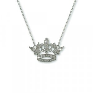 'I am a QUEEN' Silver Necklace (N6280SX)